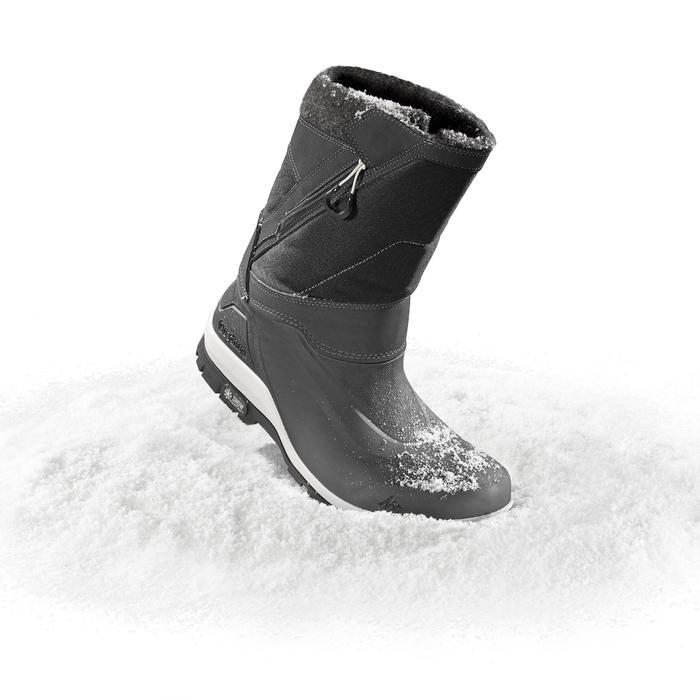 Heren wandellaarzen voor de sneeuw SH500 X-warm zwart