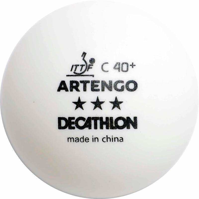 Table Tennis Balls TTB 900C 40+ 3* x 4 - White