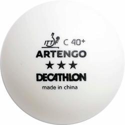 TTB 900 40+ 3* Table Tennis Balls 4-Pack - White