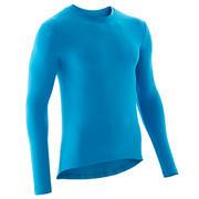 Modra kolesarska majica z dolgimi rokavi 100 (osnovni sloj)
