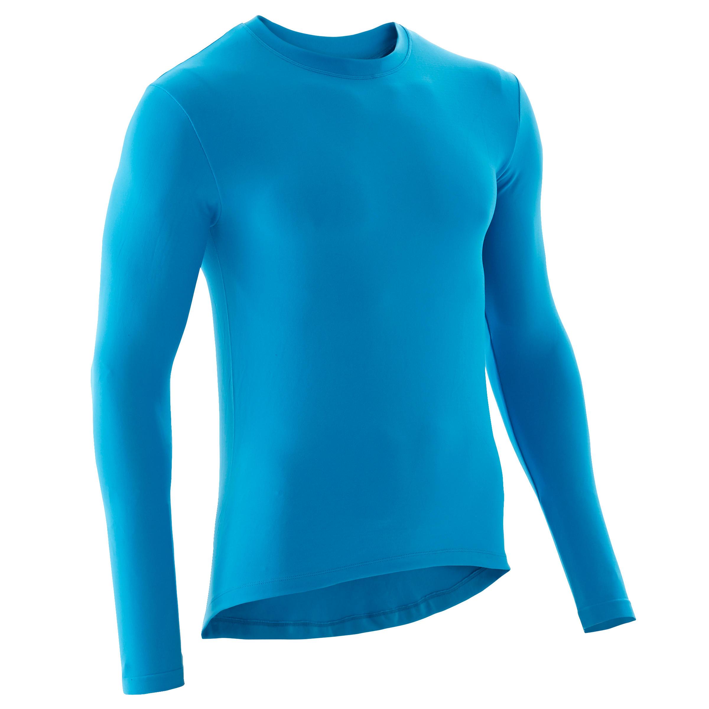 Fahrrad Unterwäsche Rennrad Langarm RC 100 Herren blau   Sportbekleidung > Funktionswäsche > Thermounterwäsche   B'twin