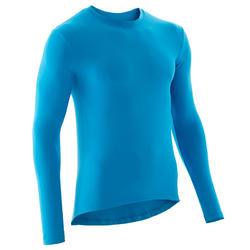 Fietsondershirt met lange mouwen 100 blauw