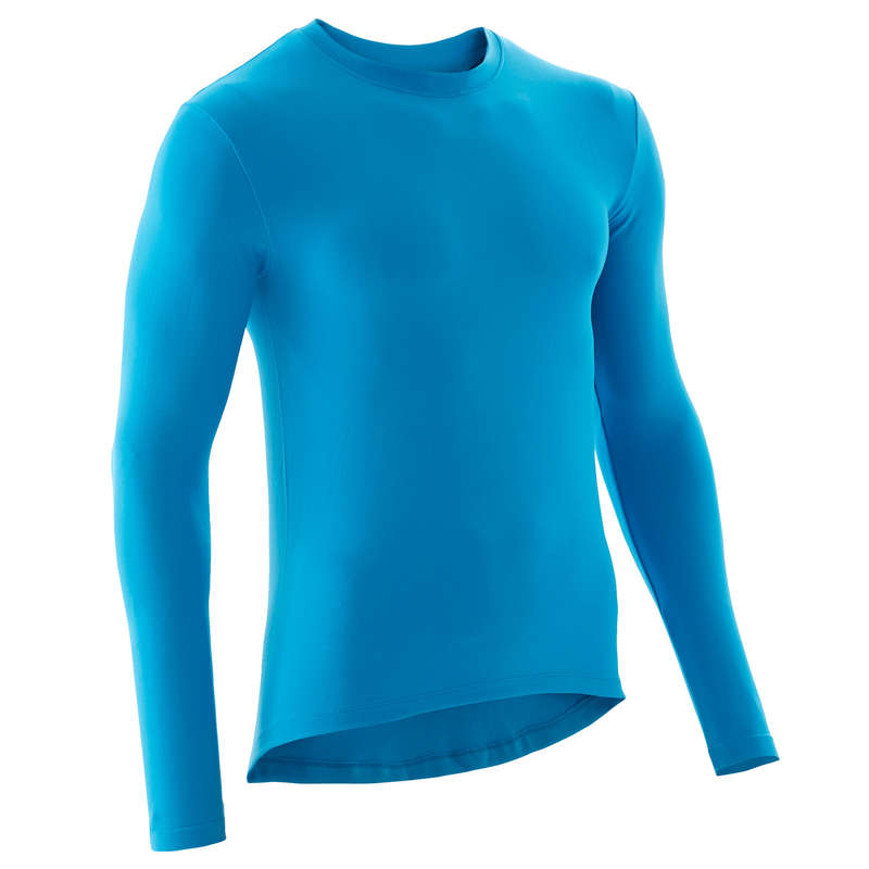 MEN COLD WEATHER ROAD BASELAYER Cycling - RC 100 Long Sleeve Cycling Base Layer - Blue VAN RYSEL - Cycling