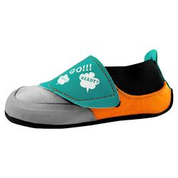 Kletterschuhe Rock Junior grau orange