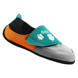 CHAUSSONS D'ESCALADE ENFANT - ROCK GRIS ORANGE