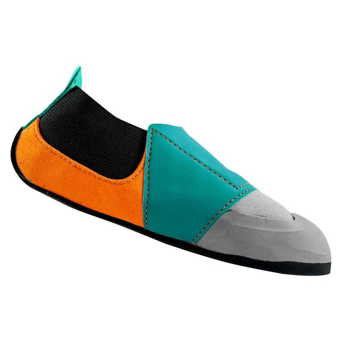 CHAUSSON D'ESCALADE ENFANT ROCK GRIS ORANGE