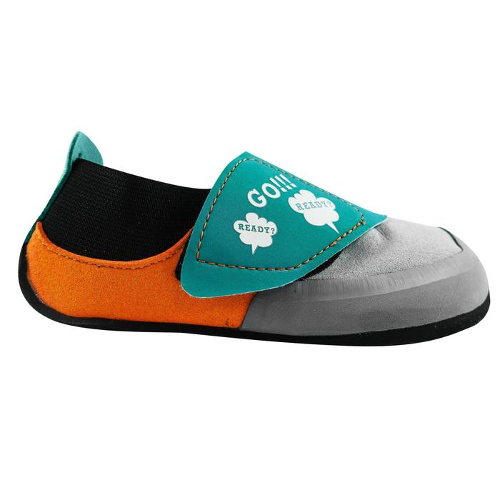 CHAUSSON D'ESCALADE ENFANT - ROCK GRIS ORANGE