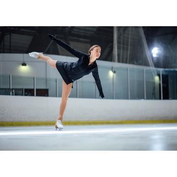 Trainingsrock Eiskunstlauf Damen schwarz