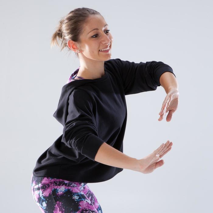 Sudadera de danza con capucha mujer negro