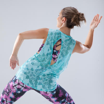 Débardeur danse femme bleu turquoise