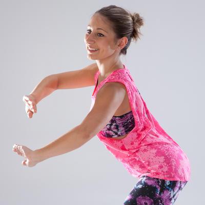 Débardeur danse femme rose fuschia