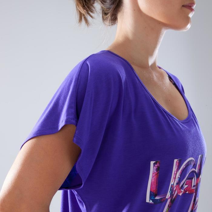 Camiseta de manga corta de danza mujer violeta