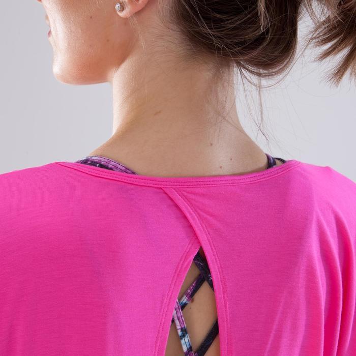 Camiseta de manga corta de danza mujer fucsia