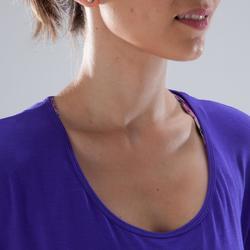 T-Shirt Tanz Kurzarm Damen violett