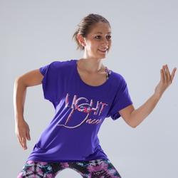 Dans T-shirt met korte mouwen voor dames paars