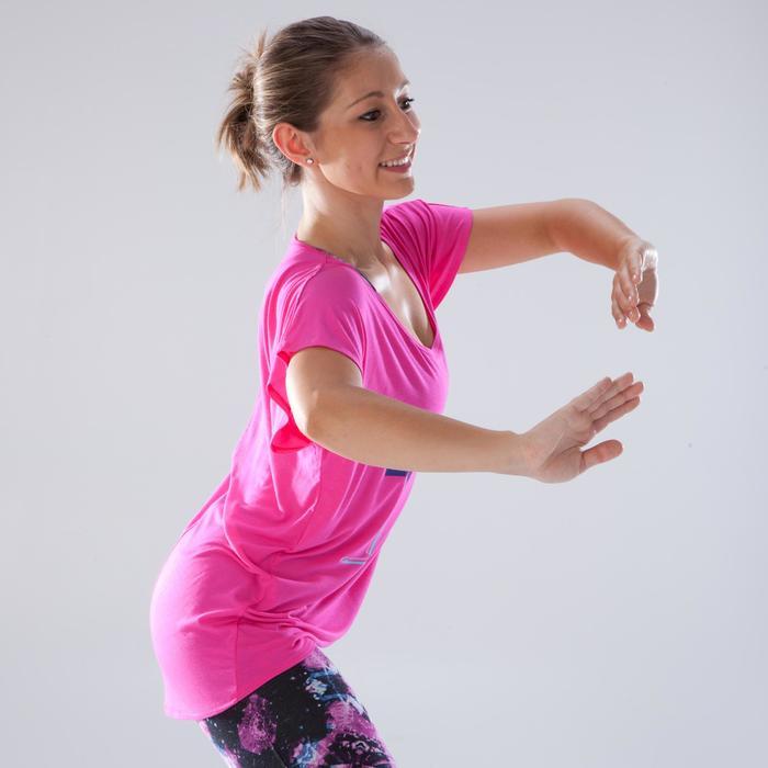 T-Shirt Tanzen Kurzarm Damen rosa