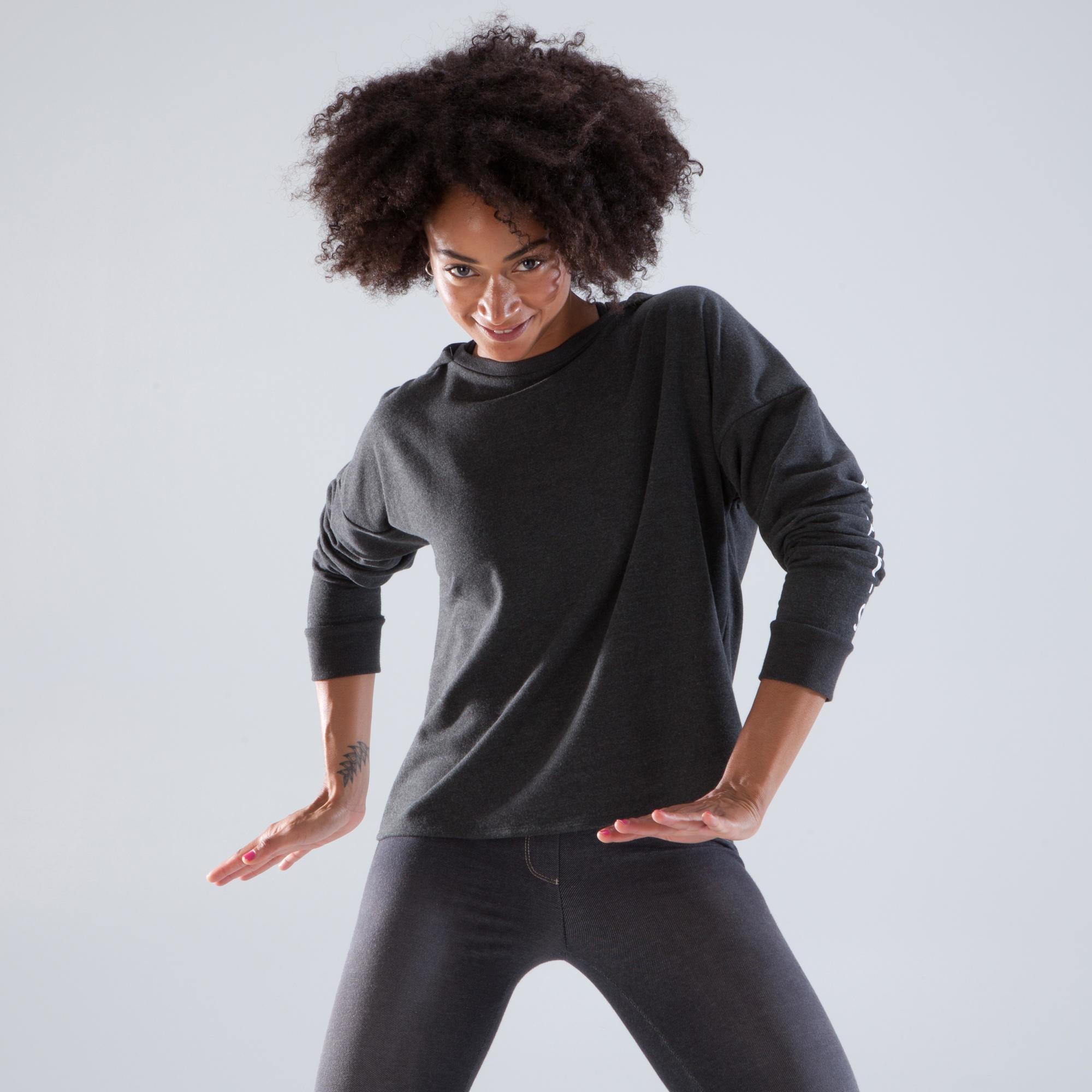 Domyos Dans hoodie voor dames antracietgrijs