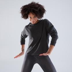 Sweat de danse capuche femme gris anthracite