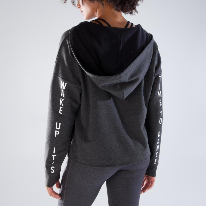 Sudadera de danza capucha mujer gris oscuro
