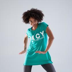 Lange losse danstuniek voor dames groen
