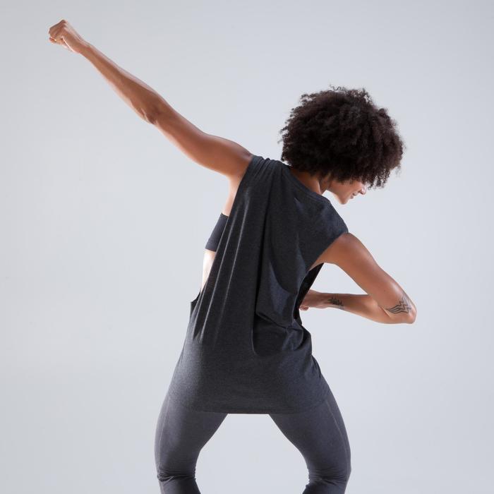 Mouwloos dansshirt voor dames antracietgrijs