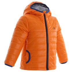 Kids' Hiking Padded Jacket MH500 2-6 Years Burgundy