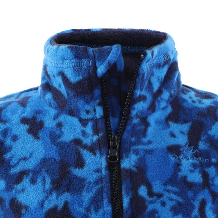 MH120 Kids' Hiking Fleece - Blue Camouflage