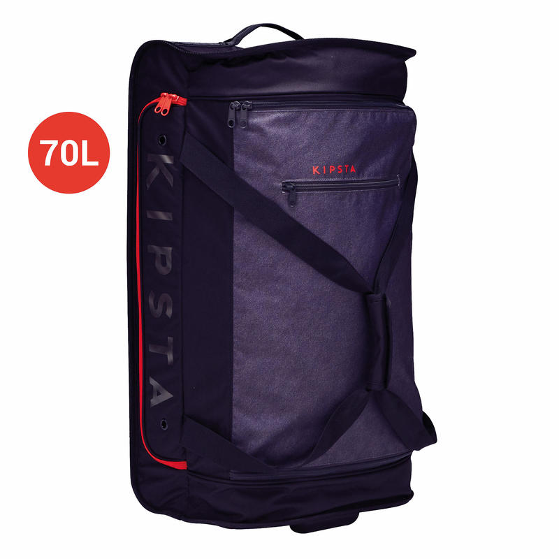 Classic 70-Litre Sports Roller Bag - Grey/Red