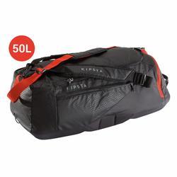 Sporttas Away 50 liter grijs/rood