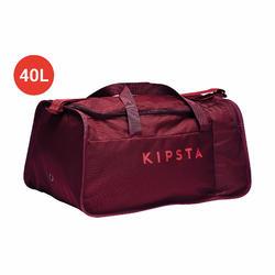Bolsa de deportes colectivos Kipocket 40 litros rojo granate borgoña