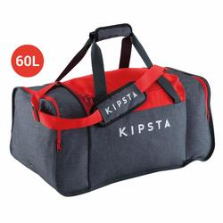 Bolsa de deportes colectivos Kipocket 60 litros gris rojo d47ca28fc00f5