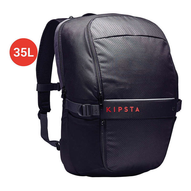 BAG TEAM SPORT Rugby - 35L Bag Essential - Black KIPSTA - Rugby