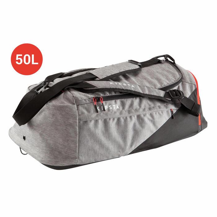 Sporttasche Away 50 Liter hellgrau/schwarz