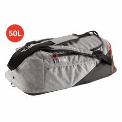 Bolsa de deportes colectivos Away 50 litros gris claro negro