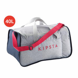 FOOTBALL Duffle bag Kipocket 40 Litres - Grey/Pink