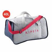 40-litrska športna torba Kipocket – sivo-roza