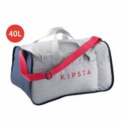 Voetbaltas / Sporttas Kipocket 40 liter grijs/roze