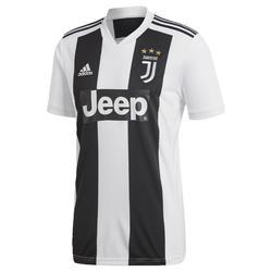 Maillot réplique de football adulte Juventus de Turin à domicile blanc et noir