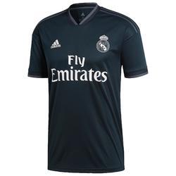Voetbalshirt replica van het uitmodel van Real Madrid voor kinderen zwart 18/19
