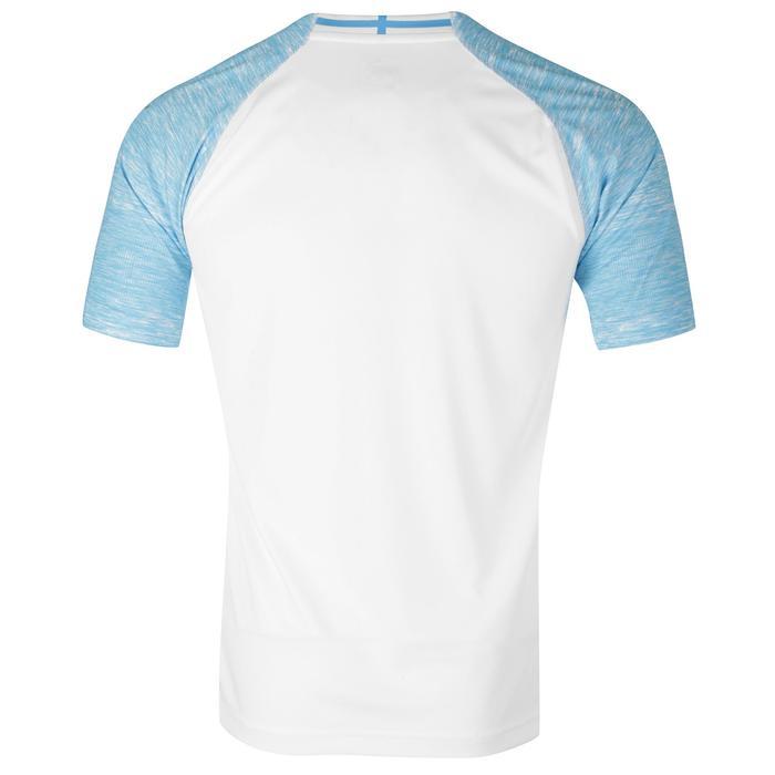 Voetbalshirt volwassenen, replica thuisshirt Olympique Marseille wit en blauw