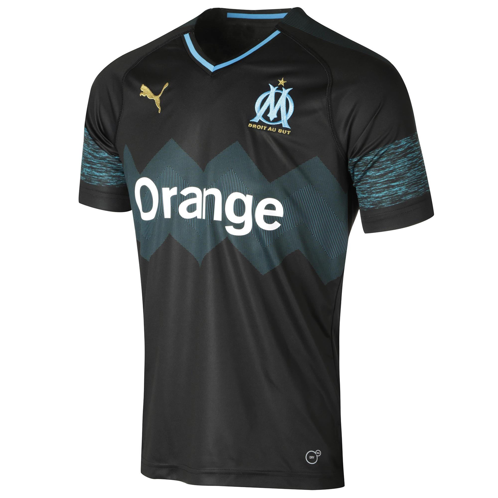 Puma Voetbalshirt Olympique Marseille uitshirt 18/19 zwart
