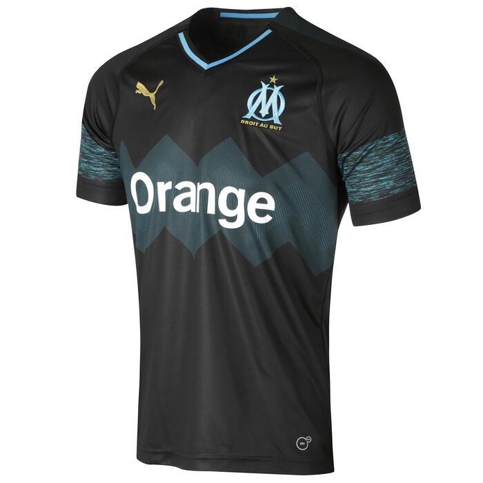 Voetbalshirt Olympique Marseille uitshirt 18/19 voor kinderen zwart