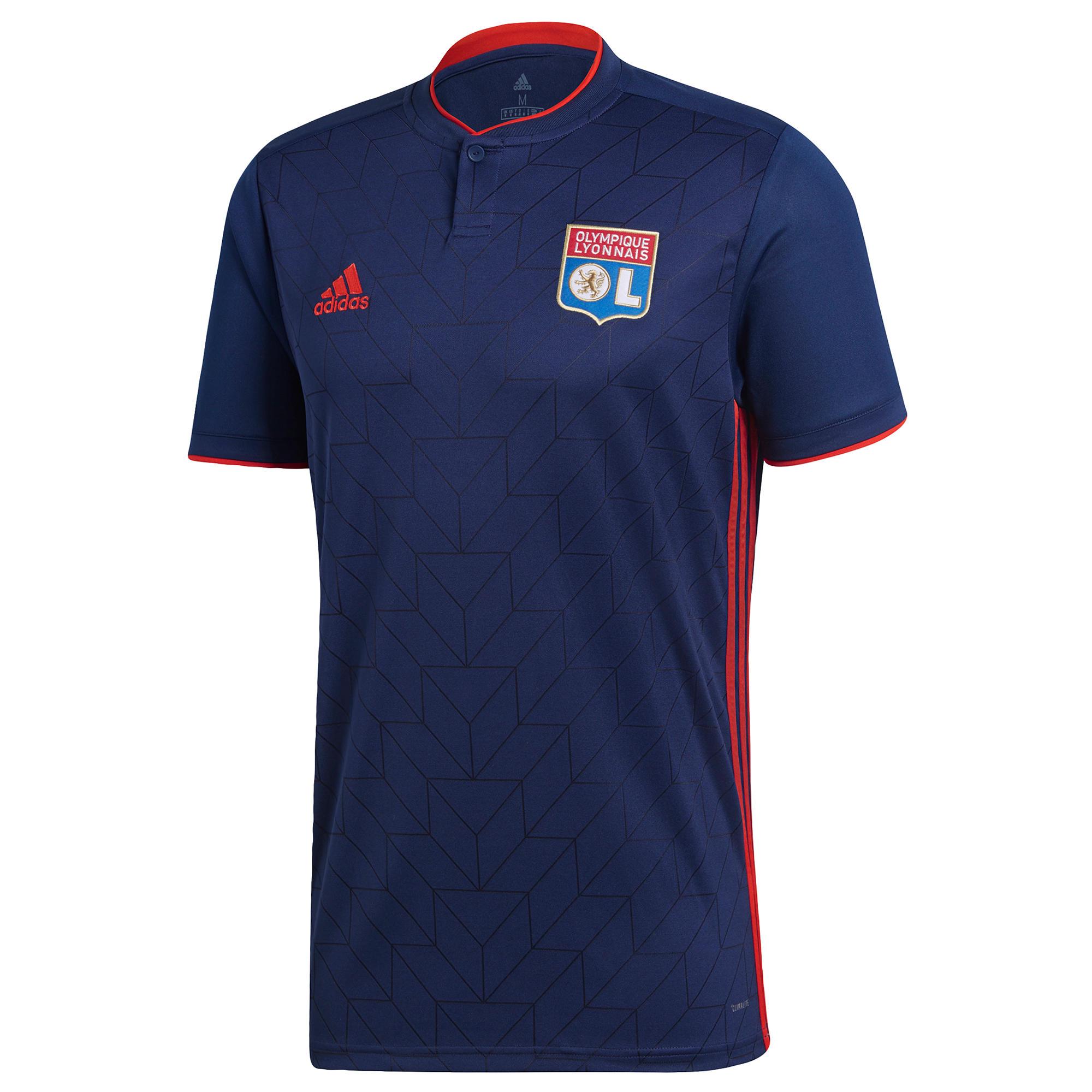 Adidas Voetbalshirt Olympique Lyon uitshirt 18/19 blauw