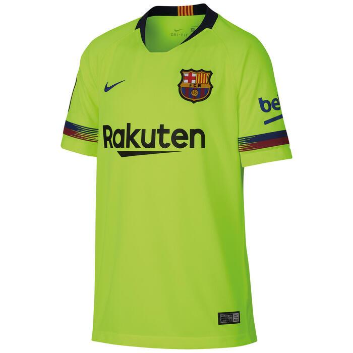 dca0f3623b9d2 Camiseta de Fútbol Nike oficial F.C. Barcelona 2ª equipación niños ...