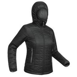 Women's Mountain Trekking Hooded Down Jacket TREK 100 - Black