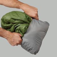 Doudoune de rando en montagne - TREK 100 capuche verte - Hommes
