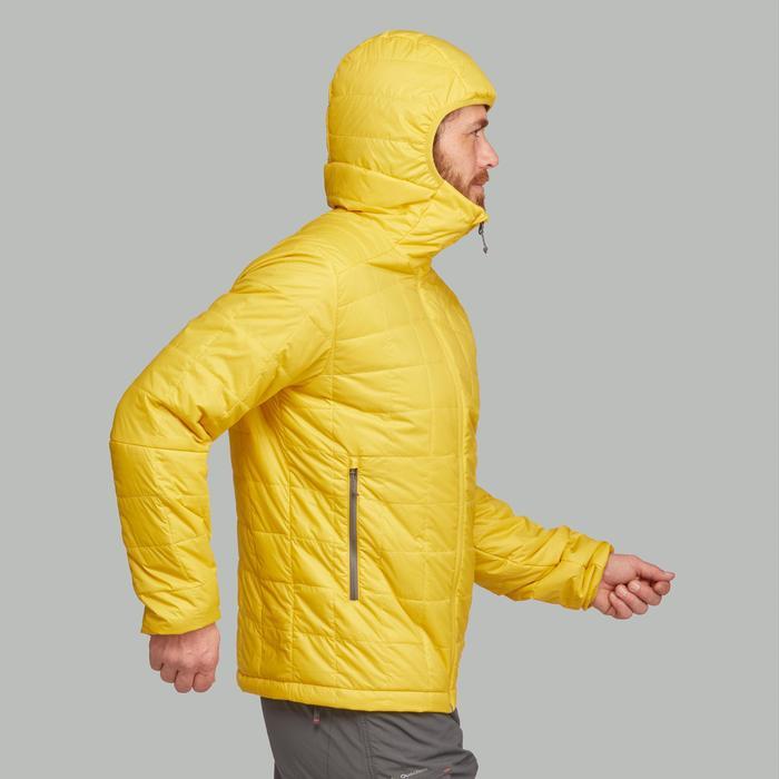 Wattierte Jacke Trek 100 Kapuze Herren gelb