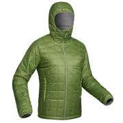 Trek100 Men's Hooded Mountain Trekking Down Jacket - Green