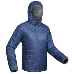 Men's TREK 100 mountain TREKKING hooded down jacket black
