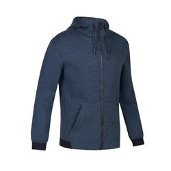 560 Gym Stretching Hooded Jacket - Dark Mottled Grey